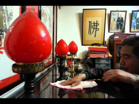 老爸過年清掃神明桌示範@宜蘭Part4_20130209