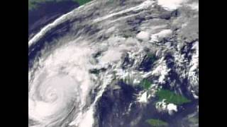 Hurricane Wilma GOES-12 satellite loop (2005)