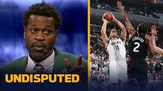 Stephen Jackson joins Skip Bayless and Shannon Sharpe to discuss the Milwuakee Bucks' Game 1 win over the Toronto Raptors in the Eastern Conference ...