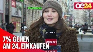7% gehen am 24. einkaufen: Last-Minute-Shopping in Österreich