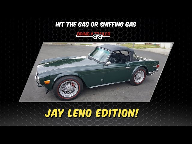 Jay Leno bids on a Supercharged Triumph TR6 on Bring A Trailer auction (HTGOSG#4)
