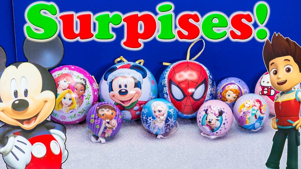 Disney frozen ornaments - Surprise Ornaments Disney Frozen Mickey Mouse Surprise Ornaments Paw Patrol Surprise Eggs Video
