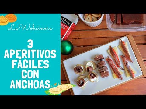 3 APERITIVOS FÁCILES para Navidad con anchoas