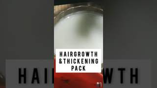 Hairgrowth &Hairthickening Pack|Best Hairpack |Do it yourself with swathy #shorts