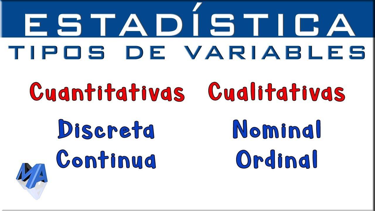 Download Tipos de variables estadísticas | Cuantitativas Cualitativas