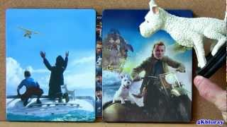 The Adventures of Tintin STEEELBOOK blu ray Secret of the Unicorn box set