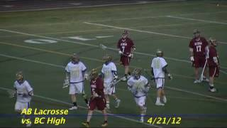 Acton Boxborough Varsity Lacrosse vs BC High 4/21/12