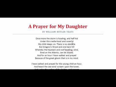 wb yeats a prayer for my daughter