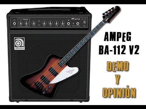 Demo y Opinión de Ampeg BA-112 V2 Combo para Bajo