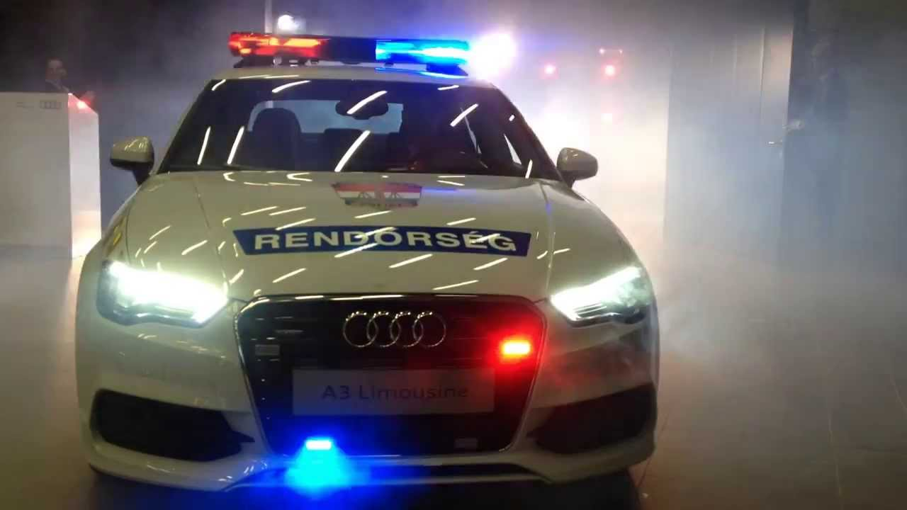 Audi A3 Limousine Police Car In Hungary