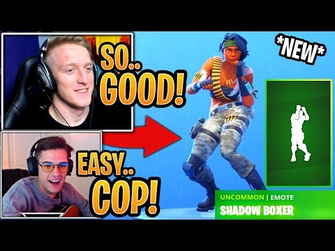 Streamers React to the *NEW* Shadow Boxer Emote! - Fortnite Best and Funny Moments thumbnail
