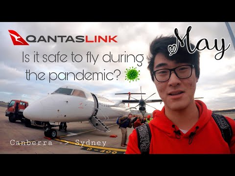 Is It Safe To Fly During Coronavirus Pandemic? Qantas Link Dash 8 Canberra To Sydney Flight Review