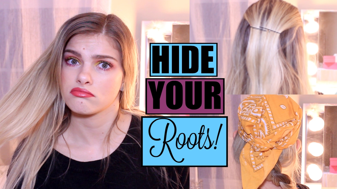 hair hacks & 10 hairstyles to hide your roots!