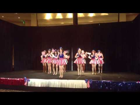 USO Girls and Captain America perform at the Avengers Ball