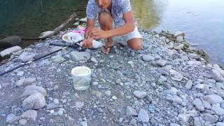 Рыбалка на горной р. Псезуапсе в Лазаревском (Сочинский р-он)