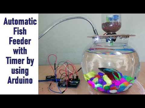 Automatic Fish Feeder Mechanism With Timer By Using Arduino || Fish Feeder DIY