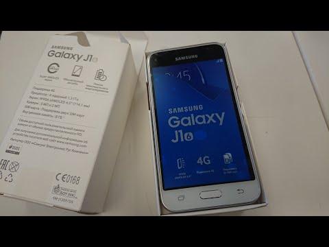 Samsung J1 2016 распаковка