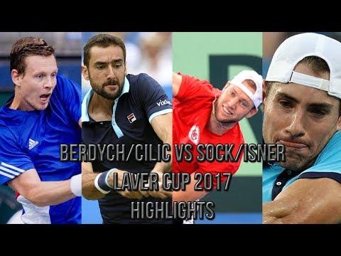 Berdych/Cilic Vs Sock/Isner - Laver Cup 2017 (Highlights HD)