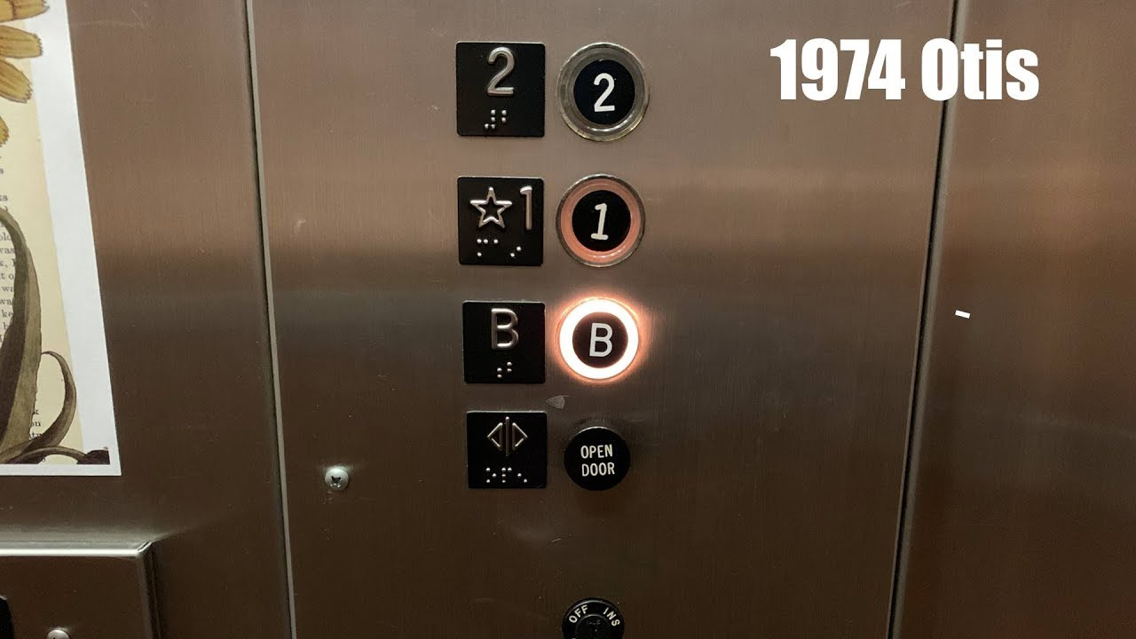 Vintage 1974 Otis Hydraulic Elevator @ The Door County Library - Sturgeon  Bay, WI