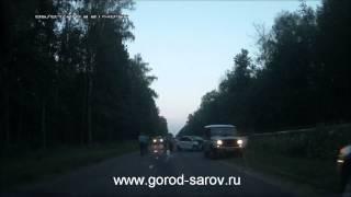 Авария в Сарове по дороге к КПП-5 перевернулся Volkswagen Polo седан
