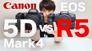 EOS R5 vs EOS 5D Mark4【新旧5対決!】