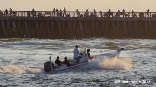 Morning boat traffic.  Sebastian inlet florida.  3 Jul 18