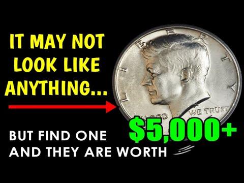 Unusual 1977 Kennedy Half Dollar Is Worth Over $5,000 If You Find One!