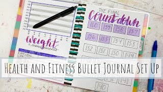 How I Set Up my Health and Fitness Bullet Journal Using 'Happy Planner Notes'