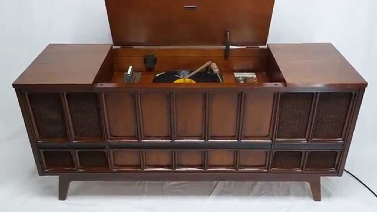 Mid Century Modern Zenith Stereo Record Player Console ...