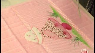 Lucimar Madeira ensina montar uma toalha com patch aplique