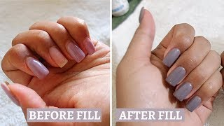 HOW TO FILL NAILS WITH DIP POWDER