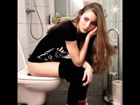 How Sexy Girl Says She Wants To Use The Toilet Watch And Laugh