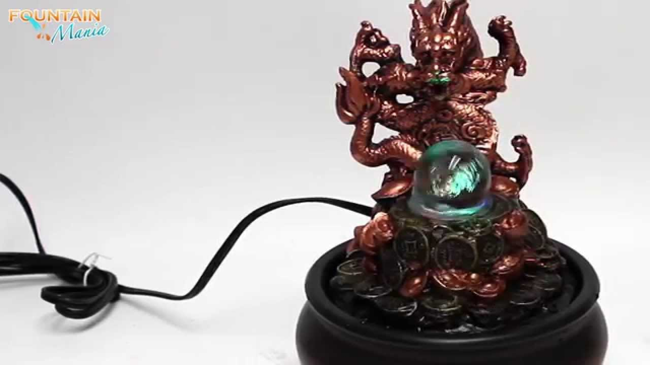 Dragon with glass ball Tabletop Water Fountain ...
