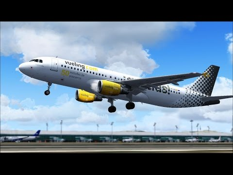 Vueling Barcelona - Madrid  A320 Full Control {IVAO-FSX} Parte1