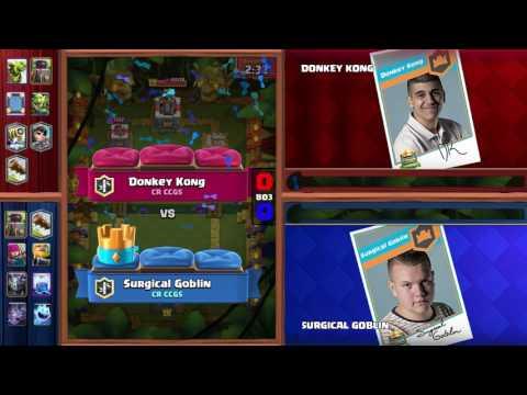 Clash Royale: Surgical Goblin v Donkey Kong Tiebreaker Match - Crown Championship Top 8 (EU)