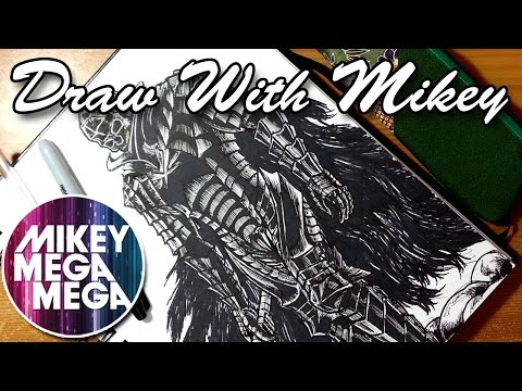 Guts Berserk Armour/Sharpie Marker High - Draw With Mikey 06