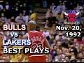 November 20 1992 Bulls vs Lakers highlights