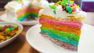 Это самый ВОЛШЕБНЫЙ рецепт! РАДУЖНЫЙ ТОРТ из разноцветных блинов!