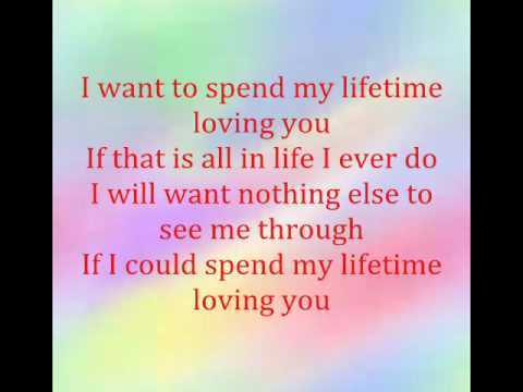 Marc Anthony&Tina Arena- I WANT TO SPEND MY LIFE TIME LOVING YOU With Lyrics