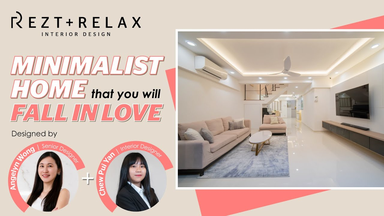 Modern Minimalist Home Of A 40 Year Old Hdb Rezt Relax Interior Design Youtube