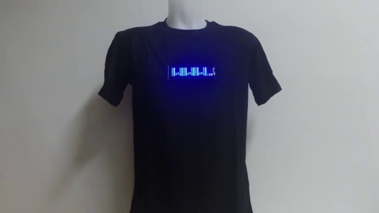 LED message t-shirt with programmable display - YouTube