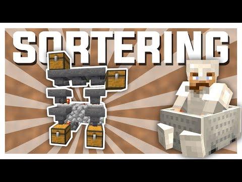 SYSTEMET FUNKER! (sorteringssystem) | Minecraft Vanilla #5