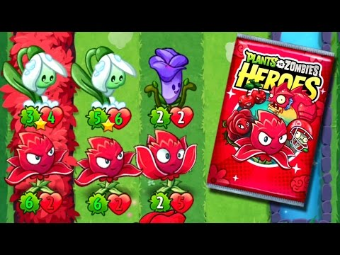 Play RED Plants vs. Zombies Heroes new RED STINGER Card | Red Mission