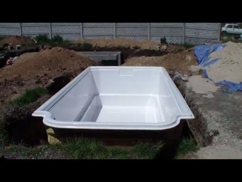 Установка Бассейна. Пластиковый бассейн