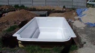 видео Чаша для бассейна