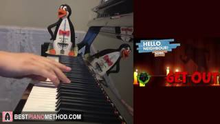 """HELLO NEIGHBOR SONG - """"Get Out"""" - DAGames (Piano Cover by Amosdoll)"""