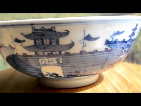 #Antique Chinese Porcelain#  Pair 19th C. Guangxu Landscape Bowls
