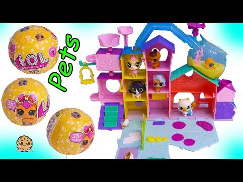 LOL Surprise Pets Stay At Littlest Pet Shop Cat Hotel  Toy  Cookie Swirl C