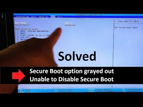 How To Fix Secure Boot Option Grayed Out In BIOS, Disable Secure Boot UEFI Windows 7/10