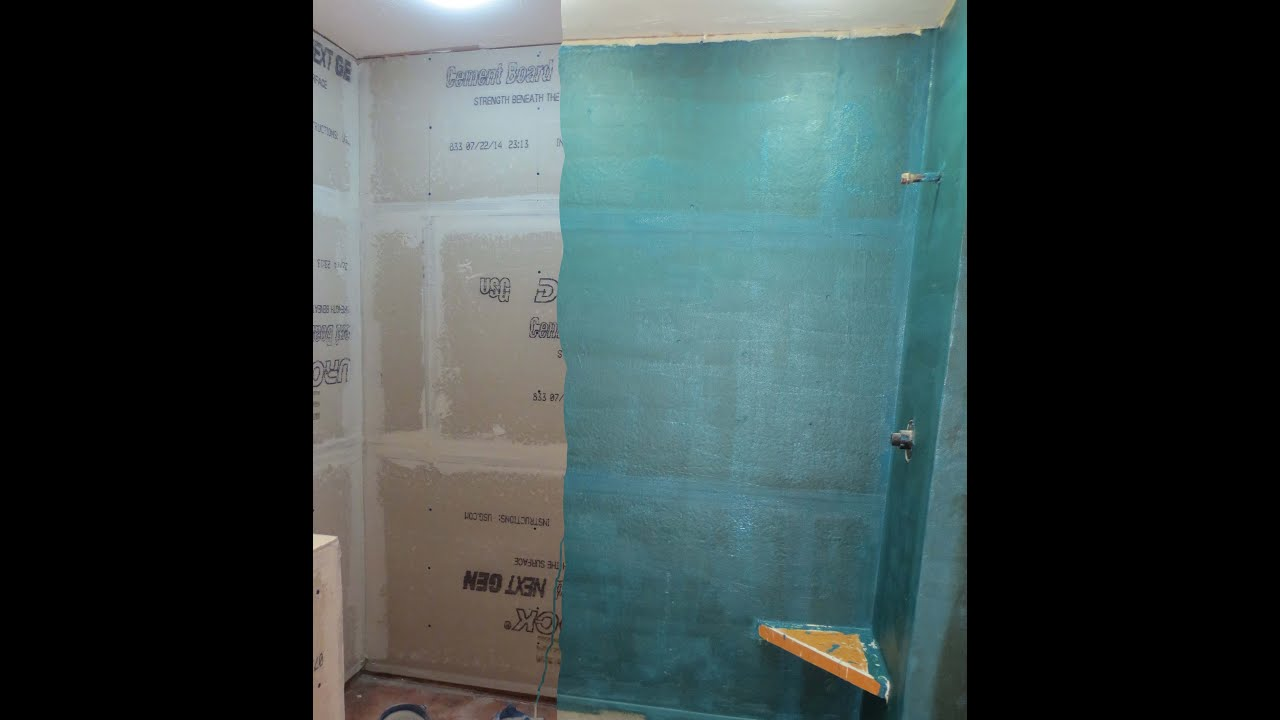 Complete tile Shower install Part 2 Waterproofing and mud bed - YouTube